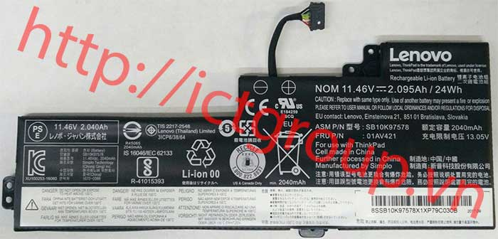 Pin trong Lenovo ThinkPad A475 T25 T470 T480 T570 Built-in Battery