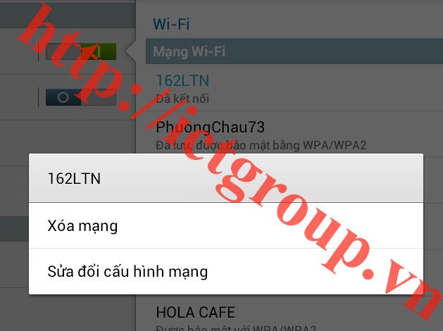 Samsung Galaxy Tab II P7500 Network